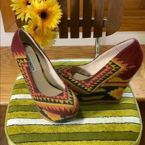 Steve Madden Pammyy | Aztec Fabric Wedge Shoes